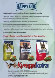 HappyDog yleismainos myymälään ja nettiin